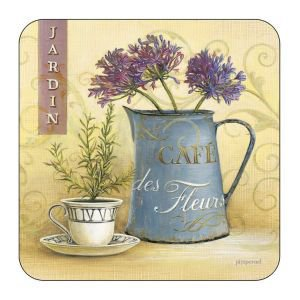 Set of 6 cafe Des Fleurs Coasters