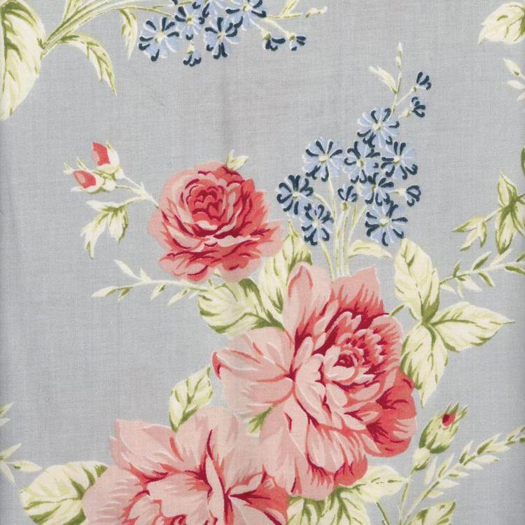 Elina Dusty Blue Wipe Clean Oilcloth Tablecloth