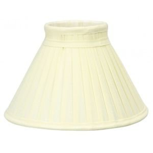 Charlotte Pleated Cream lampshade 25cm