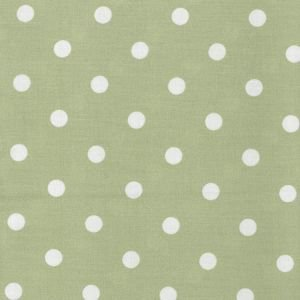 Forest Green Polka Dot Oilcloth Tablecloth