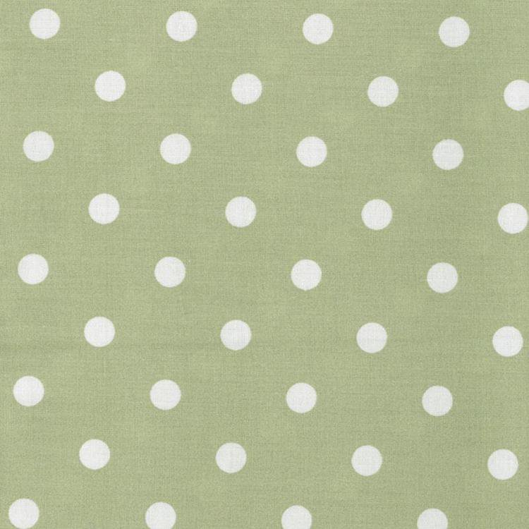Table Cloth Green : Forest Green Polka Dot Oilcloth Tablecloth