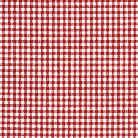 Red Gingham Oilcloth Tablecloth