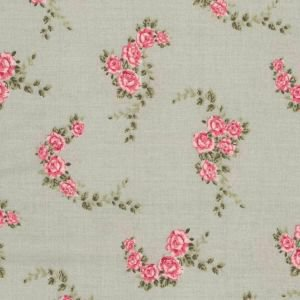 Blossom Rose Aqua Oilcloth Tablecloth