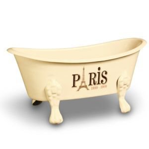 Ivory Metal Bath Soap Dish - Paris