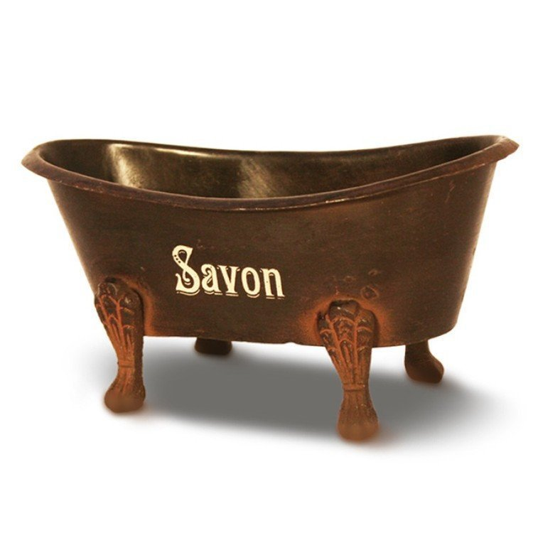 Brown Metal Bath Soap Dish - Savon