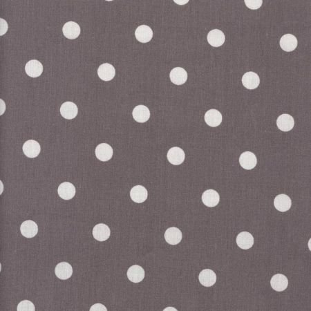 Aubergine & White Polka Dot Wipe Clean Oilcloth Tablecloth