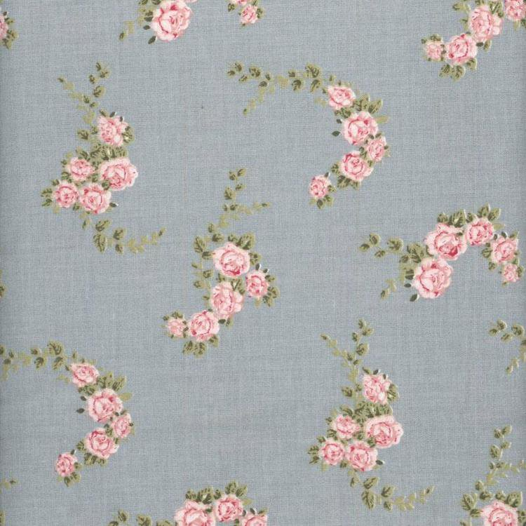 A u maison blossom rose dusty blue oilcloth oilcloth fabric for Au maison oilcloth uk