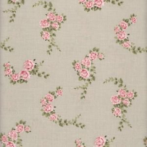 Blossom Rose Toffee Oilcloth Wipeable Tablecloth