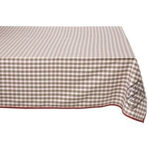Rectangular Brasserie Check Tablecloth