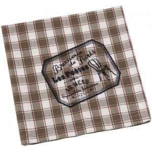 Set of 4 Brasserie Check Table Napkins