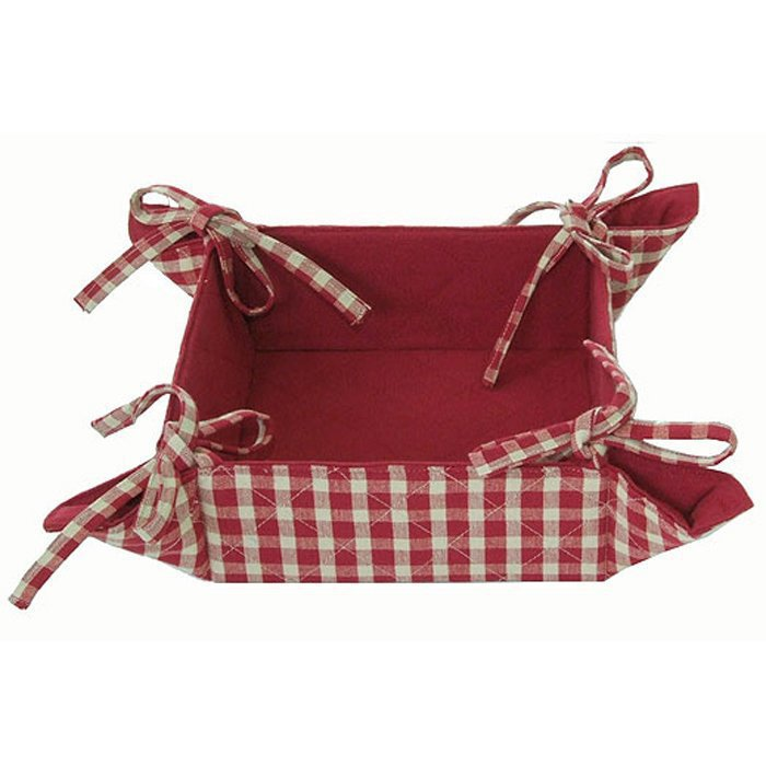 Red Check Bread Basket