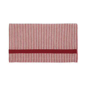 Red Ticking Table Runner
