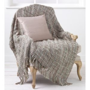 Duck Egg & Taupe Kelso French Bed Throw