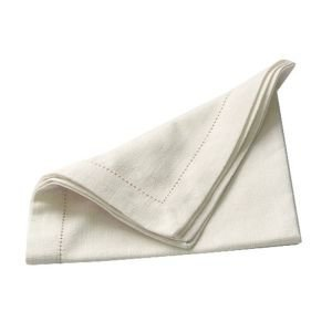Set of 4 Hemstitch Napkins - Ivory