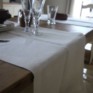 Ivory Linen Table Runner 45 x 140cm