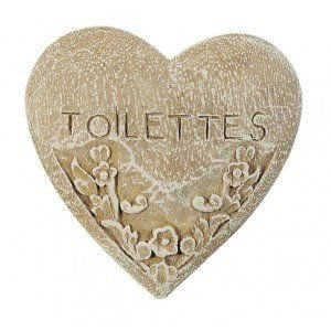 Wooden Toilettes Plaque