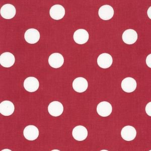 Red Polka Dot Vintage Oilcloth
