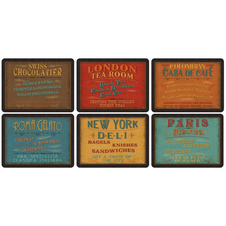 Set of 6 Lunchtime placemats