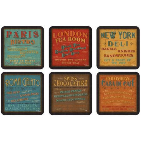 Set of 6 Lunchtime Coasters