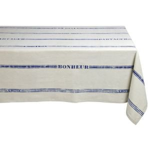 Bonheur Blue Stripe Rectangular Tablecloth