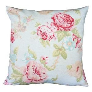 Antique Rose and Duck Egg Cushion