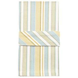 Set of 4 Striped Duck egg napkins