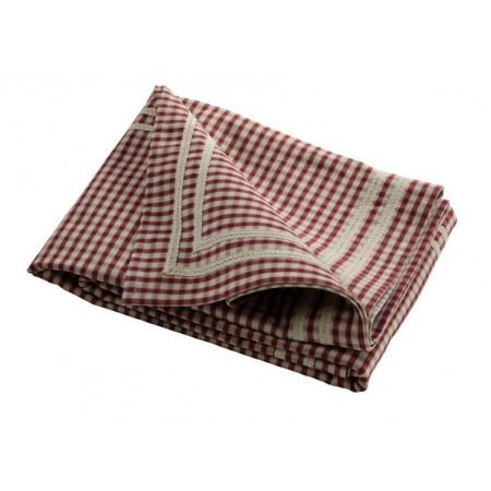 Red Small Check Rectangular Tablecloth