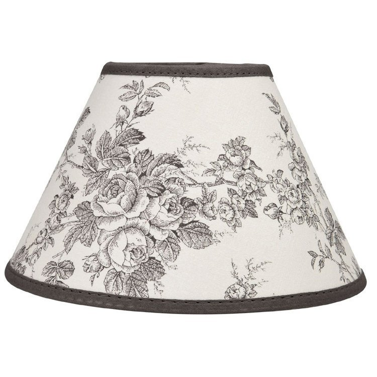 Grey and White Toile de Jouy Lampshade 22cm