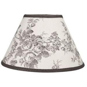 Grey and white toile de jouy lampshade 35cm