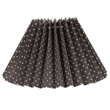 Dark Grey Dotty pleated lampshade 22cm