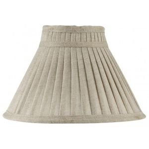 Charlotte Pleated Shaped Linen Shade