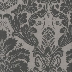 Charcoal Damask Oilcloth