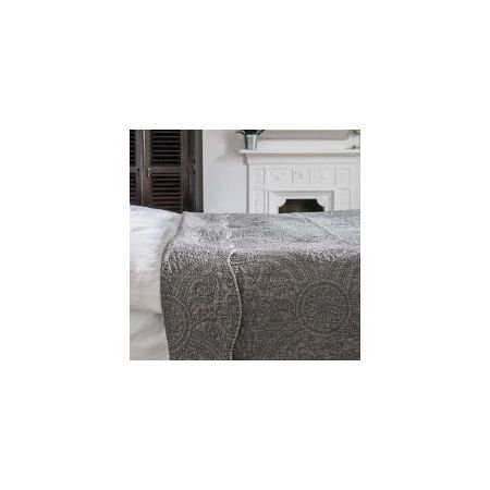 Washed Charcoal Quilted Bedcover - Kingsize