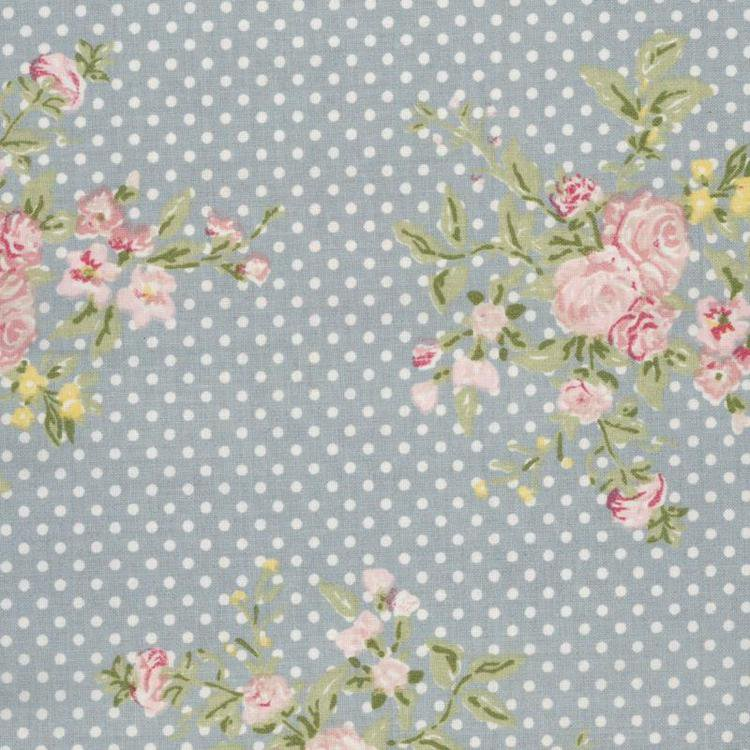 Flora Dusty Blue Oilcloth