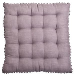 Linen mix Chair pad - Lavender