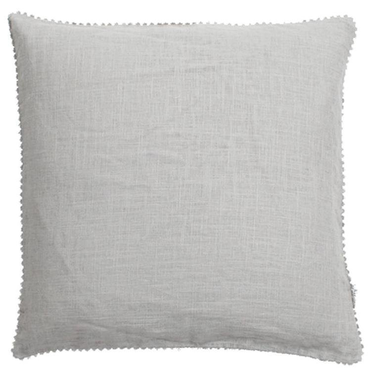 Linen Mix Cushion - Light Grey