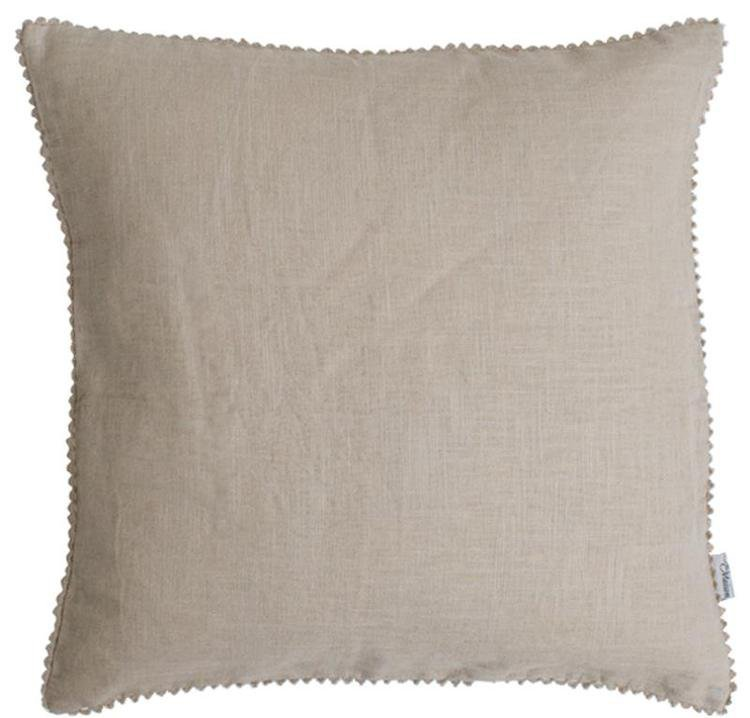 Linen Mix Cushion - Natural