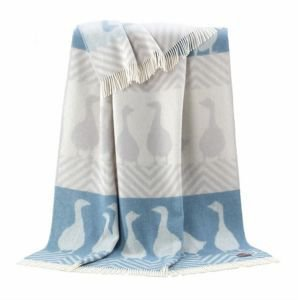 Reversible Wool Throw - Goose