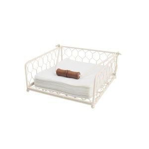 Provence cream chicken wire napkin holder
