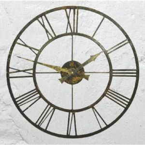 Outdoor Metal Roman Numeral Clock