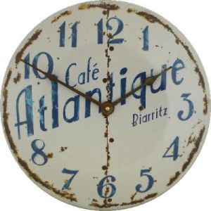 Enamel Cafe Atlantique Clock