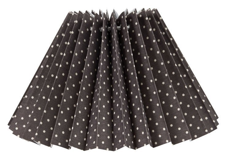 Small Pleated Grey Dot Mini Shade