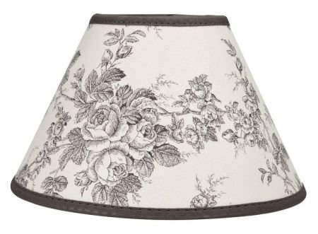 Grey Toile de Jouy Mini Lamp Shade