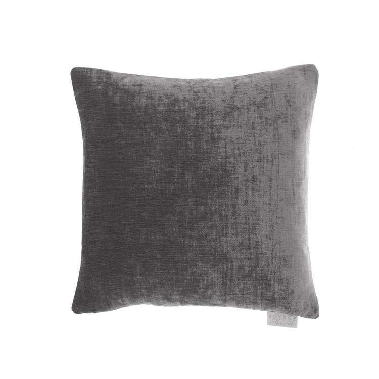 Chenile velvet and linen reversible Cushion - Liquorice