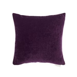 Chenile Velvet and Linen Reversible Cushion - Amethyst