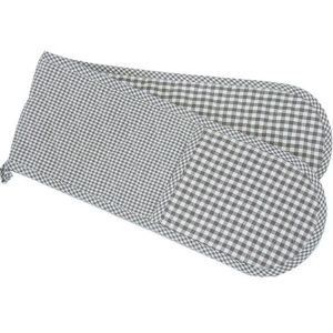 Double Oven Glove Taupe Gingham