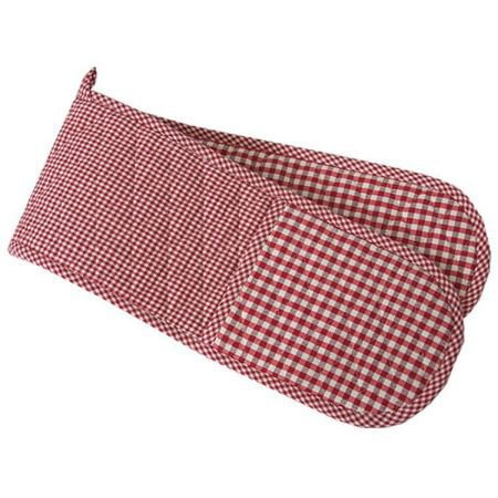 Double Oven Glove Red Gingham