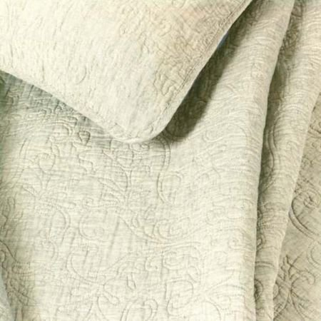 Quilted Kingsize Bedcover - Washed Linen