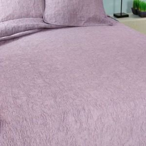 Quilted Kingsize Bedcover- Washed Heather