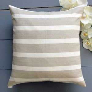 Paris Stripe Linen and White Cushion